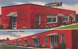 Hagerstown Motel, Hagerstown, Maryland, Early Postcard, Unused