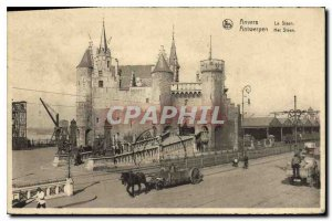 Postcard Old Antwerp Steen