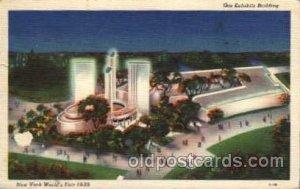 Gas Exhibits Bldg. New York Worlds Fair 1939 Exhibition 1939 small tear left ...