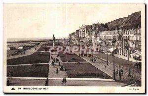 Old Postcard BOULOGNE-SUR-MER - La Digue