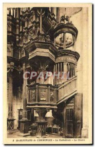 Old Postcard Cathedral of St Bertrand de Comminges The pulpit