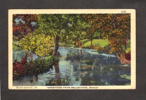 PA Greetings From Bellefonte Pennsylvania Postcard