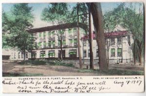 Clark Textile Co's Plant,Saratoga NY