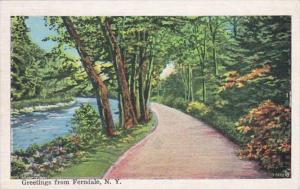 New York Greetings From Ferndale 1937