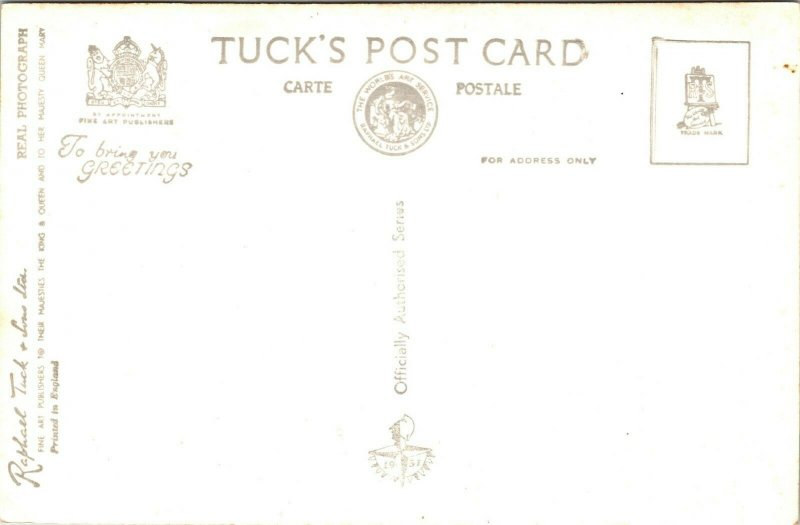 Postcard UK Raphael Tuck RPPC Real Photo River Walk and the Skylon 1951 A16