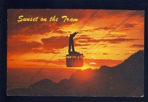 Albuquerque, New Mexico/NM Postcard, Sunset On Sandia Peak Aerial Tramway, 1967!