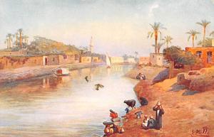 Egypt, Egypte, Africa Nile Scene  Nile Scene