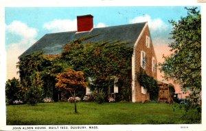 Massachusetts Duxbury John Alden House Built 1653 1932 Curteich