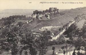 Vue Sur Le Chateau Et La Vallee, Arques-La-Bataille (Seine Maritime), France,...