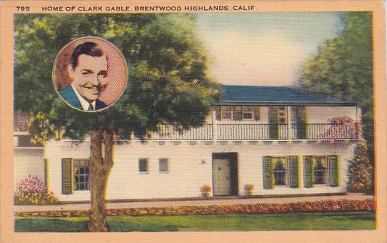 Home Of Clark Gable Brentwood Highlands California
