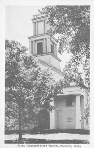 Windsor Connecticut~First Congregational Church~1951 Postcard