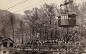 New Hampshire Franconia Notch Cannon Mountain Aerial Tramway Photo