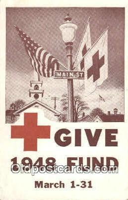 1948 Fund Campaine Red Cross Postcard Postcards  1948 Fund Campaine