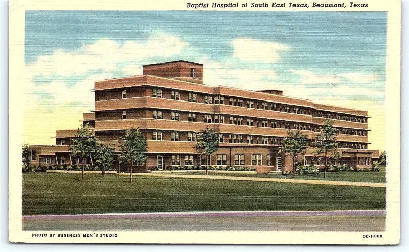 postcard tx beaumont baptist hospital of south east texas vintage