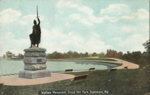 BALTIMORE, Maryland, 1900-1910s ; Wallace Monument , Druid Hill Park