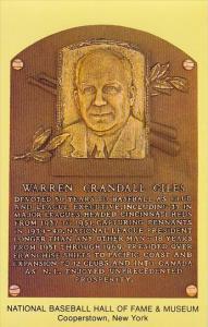 Warren Crandall Giles Baseball Hall Of Fame & Museum Cooperstown New York
