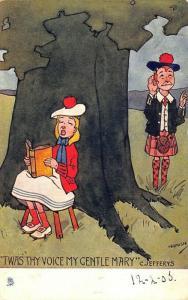 Raphael Tuck Artist Signed Hamish Twas Thy Voice My Gentle Mary' Postcard