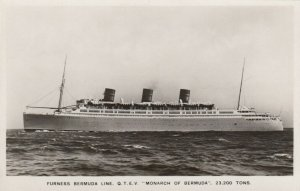 RP: Furness Bermuda Line Ocean Liner 'MONARCH OF BERMUDA ,1940s