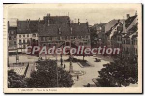 Old Postcard Mulhouse Place De Runion