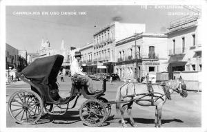 Guadalajara Jalisco Mexico view of horse and carriage real photo pc Z11997