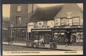 Middlesex Postcard - The Blue Lion,The Boundary,Fore St -Enfield Libraries T5127