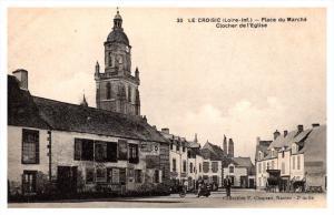 France le Croisic Place du Marche Clocher de l'Eglise