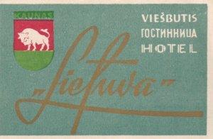 Russia Visbutis Hotel Liefuva Vintage Luggage Label lbl0407