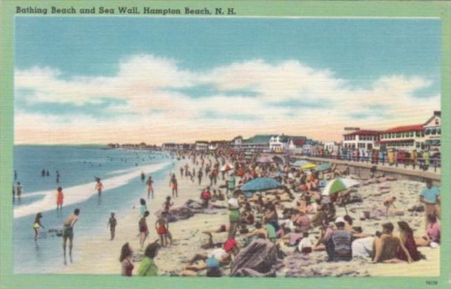 New Hampshire Hampton Beach Bathing Beach and Sea Wall