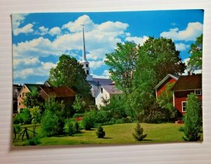 Vintage Postcard Village of Stowe Vermont New England 1988 unposted   756