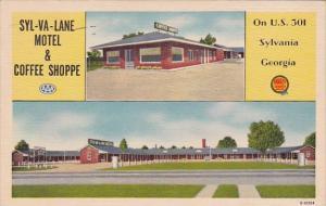 Syl Va Lane Motel & Coffee Shoppe Sylvania Georgia1952