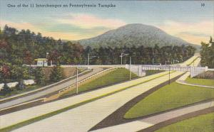 One Of The 11 Interchanges On Pennsylvania Turnpike