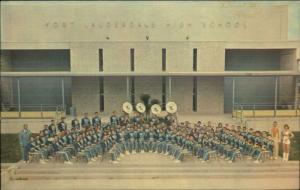 Ft. Fort Lauderdale FL High School Music Band Old Postcard