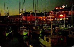 California San Francisco Fisherman's Wharf At Night 1968