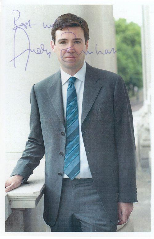 Andy Burnham Labour MP Manchester Mayor Hand Signed Photo