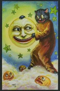 Matthew KIRSCHT Halloween PLACING THE MOON SHIVERBONES Signed Ltd Postcard R1