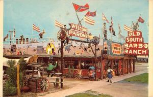 Clewiston Florida Old South Bar B Q Ranch Vintage Postcard K71375