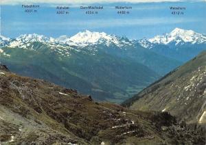 Switzerland Walliser Alpen von Belvedere-Furka aus Alpes Valaisannes Valais Alpe