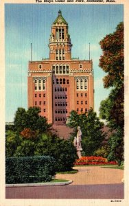 Minnesota Rochester The Mayo Clinic and Park 1947 Curteich