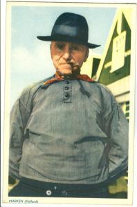 Netherlands, Marken, Dutch man with pipe, unused Postcard