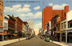 NC - Greensboro. Elm Street looking North