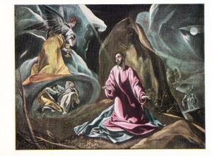 El Greco The Agony In The Garden Rare Art National Gallery Painting Postcard
