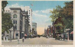 CHARLOTTE , North Carolina , 1910s ; South Tryon Street