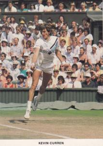 Kevin Curren American Tennis Champion at Wimbledon Postcard