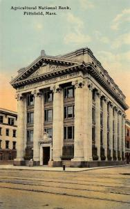 Pittsfield Massachusetts~Agricultural National Bank~3 Story Pillars~Corner~1910