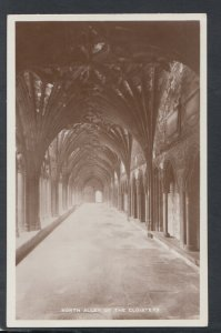 Kent Postcard - North Alley of The Cloisters, Canterbury Cathedral    RS20085