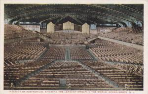 Interior of Auditorium,  showing the largest Organ in the world,  Ocean Grove...