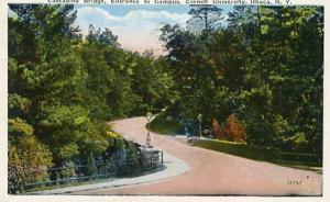 NY - Ithaca, Cascadilla Bridge, Entrance to Cornell University Campus