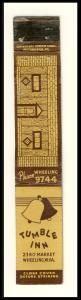 Wheeling, West Virginia/WV Mini-Matchcover, The Tumble Inn