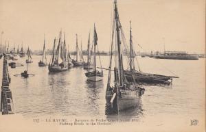 France, LE HAVRE, Barques de Peche dans l'Avant Port, Fishing Boats, early 1900s