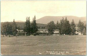 RIPTON Vermont RPPC Real Photo Postcard BREAD LOAF INN Hotel View 1939 Cancel